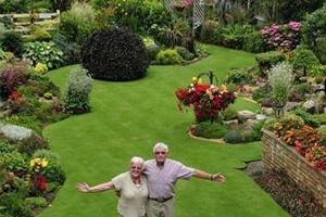 """英国男子花40年整理,他家的这块草坪被评为了""""英国最美草坪"""""""